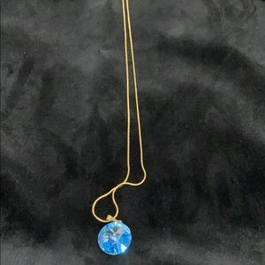 14 k gold plated necklace